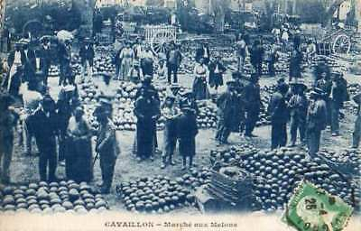 84-Cpa  Dentelee Animee 1925- Cavaillon -Marche Aux Melons