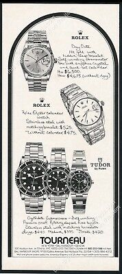 1979 Rolex Tudor Submariner watch 3 Oystedate models vintage print ad