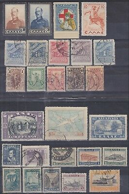91) Greece - Griechenland  1900 / 1940 - Used Selection