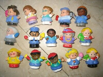 Lot Personnages Figurines Anciennes Vintages Little People Fisher Price Ecole Fe
