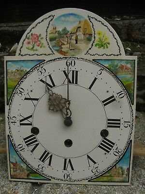 Vintage Movement and Painted Dial / Grandfather Longcase / Hermle