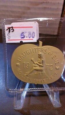 1973 Daughters of Eve Brushed Gold Doubloon - Apple Shaped