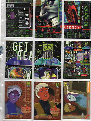 Jonny Quest - Lot Of 9 Different chase cards EX Upper Deck 1996