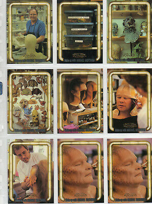 Star Trek Voyager Profiles - Lot of 9 Make-up With M Westmore Chase Cards EXC