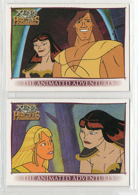 Xena & Hercules Animated - Lot of 2 Different Promo Cards - Rittenhouse
