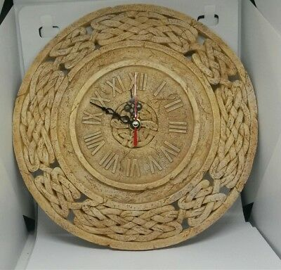 Stone Terracotta Style Vintage Looking Resin Wall Clock , Nice Gift.