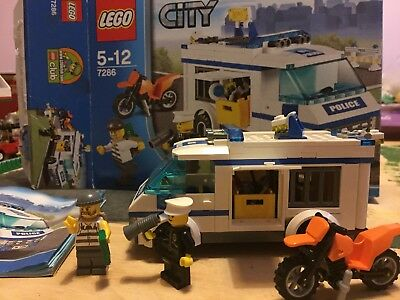 Lego City 7286 Prisoner Transporter Complete With Instructions