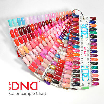 DND Daisy Gel Polish Color Sample Chart Palette Display *Choose any one*