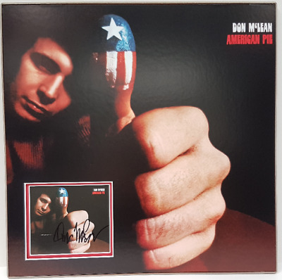 DON MCLEAN - personally signed CD cover AMERICAN PIE - picture mounted & matted