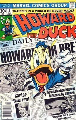 Howard the Duck (1st Series) #8 1977 FN- 5.5 Stock Image Low Grade