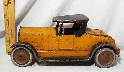 EARLY Antique LARGE 1920s ROADSTER COUPE Tin FRICTION TOY CAR Dayton WORKS