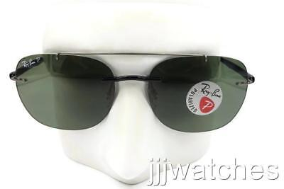 654688026a New Ray-Ban LightRay Classic Green Polarized Sunglasses RB4280 601 9A 55   238