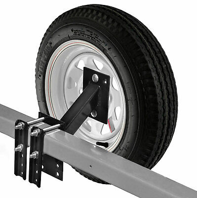 Heavy Duty Trailer Spare Tire Carrier Mount Mounting Bracket Extra Wheel Holder