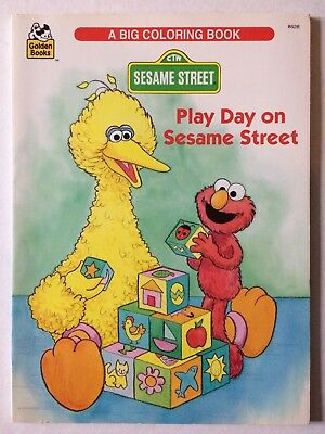 Play Day On Sesame Street Golden Big Coloring Book Unused 1995