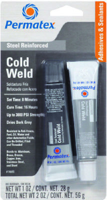 Permatex Cold Weld Bonding Compound 15 minute 2 Part Adhesive & Filler 1oz Each