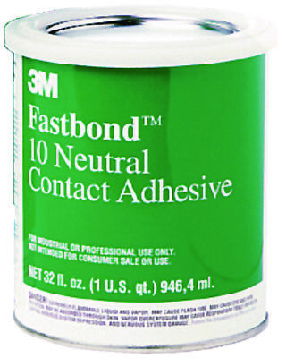 3M Boat Marine Fastbond Contact Adhesive Air Drying Neutral Colored Quart 20272