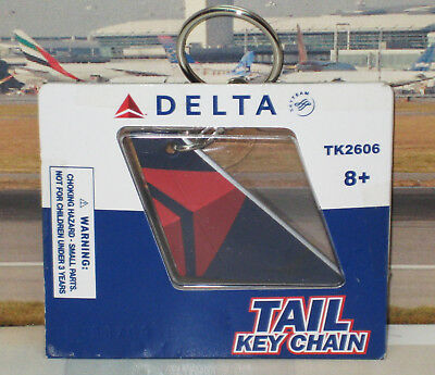 """Airplane Tail Delta Airlines """"Last Color"""" Key Chain"""