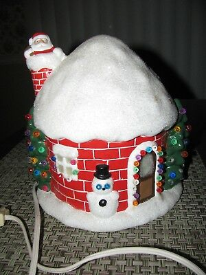 Ceramic Christmas Lighted Snow Covered House