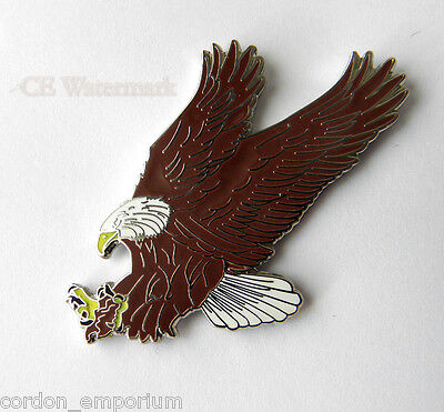 American Eagle Flying Landing Extra Large Lapel Pin Badge 2 Inches