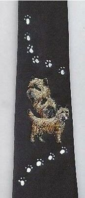 Mens Necktie CAIRN TERRIER Dog Breed Mens Accessory Polyester Tie