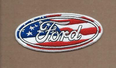 New 1 5/8 X 3 5/8 Inch Ford Usa Logo Iron On Patch Free Shipping Q1