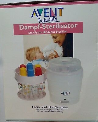 PHILIPS AVENT Naturally Steam Sterilizer Microwave / Electric Cleans 6 Baby's Bo
