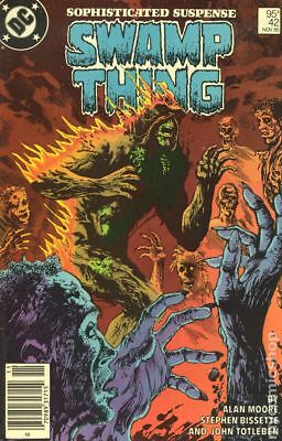 Swamp Thing (2nd Series) Canadian Price Variant #42 1985 VF Stock Image