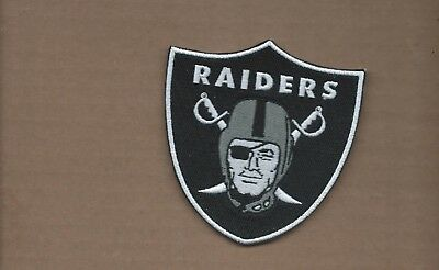 New 3 3/4 X 4 Inch Oakland Raiders Shield Iron On Patch Free Ship E1