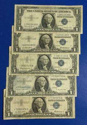 1957-1957B $1 Blue SILVER Certificates *** 5 STARs *** Old US Paper Currency