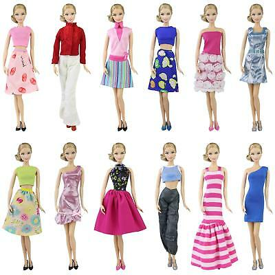 "10 Set For 11.5""  Doll Clothes Dresses Outfits Shoes Shirt Blouse Trousers Skirt"