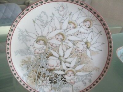 Delightful Bradex Plate - May Gibbs - Flannel Flower Babies 1994 - Approx 19Cm