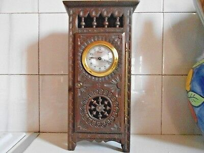 Vintage French carved Wood BRITTANY CLOCK