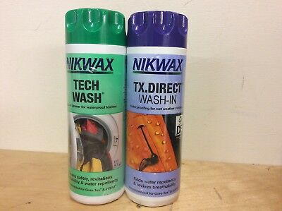 Nikwax cleaner and reproofing. Tech wash TX direct. Twin pack 2x 300ml