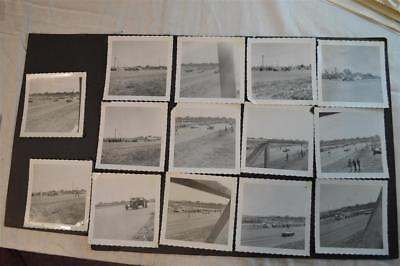 Lot of 14 Vintage 1950s Photos Drag Racing Cars 908017
