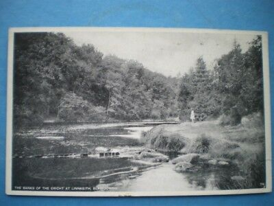 Postcard Perthshire Blairgowrie - The Banks Of The Ericht At Linnkeith