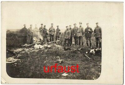 German WWI Dead French Pilot Velu Somme Photo 1917