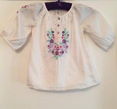 Autograph Girls Cotton Blouse With Embroidery. 18-24 Months. Immaculate.