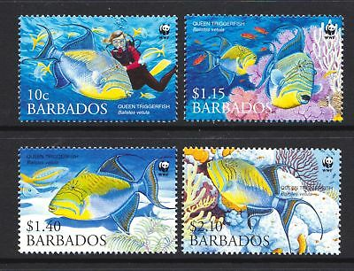 Barbados 2006 - WWF - Queen Triggerfish - MNH Set - Cat £6.85 - (115)