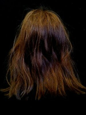 Vintage Real Brown Hair Wig