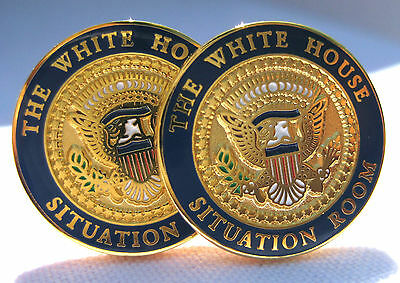 White House Situation Room Cufflinks  / Presidential Cufflinks / White House