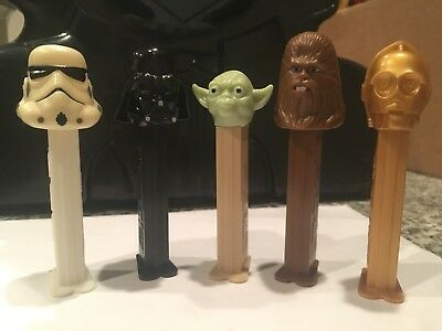 Pez candy dispensers Star Wars 1997 5 piece set excellent condition