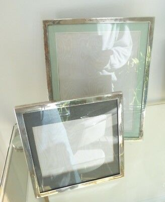 2 high quality late 20th century solid silver photo frames ##WAR66BS