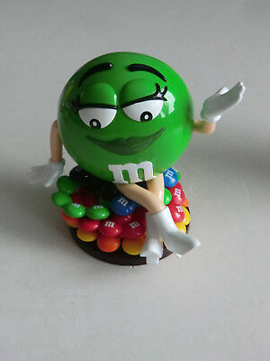 M&M M&M's Dispenser Spender Figur Mrs GREEN grün  mit bunten M&M's  NEU