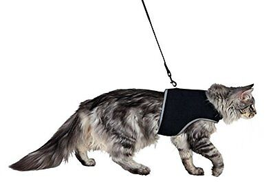 Trixie Extra Large Cat Full Soft Safety Harness With Lead BLACK 41895