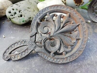 Victorian Cast Iron Trivet For Fireplace Part 311
