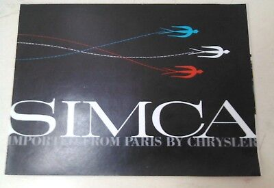 Vintage Car Brochure - Chrysler -  Simca