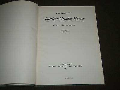 1967 A History Of American Graphic Humor Volume 1 By William Murrell - Kd 4693
