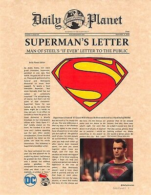 Daily Planet > Superman's Letter > Man Of Steel > Lois Lane > Henry Cavill > DC