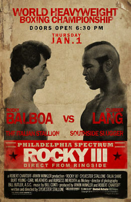 Rocky 3 > III > Rocky Balboa VS Clubber Lang Fight Poster > Mr. T > Stallone