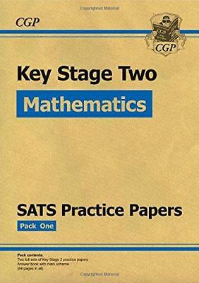KS2 Maths SATs Practice Papers Set 1, CGP Books, Good Condition Book, ISBN 97818
